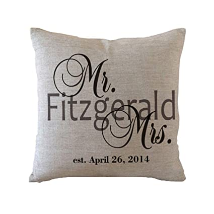 Amazon Designyours Personalized Mr And Mrs Pillow Covers Custom Impressive Mr And Mrs Pillow Covers