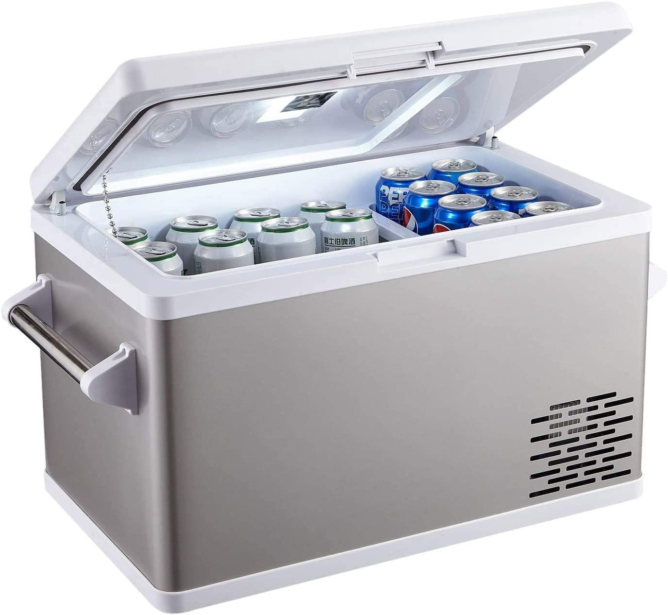 Ausranvik 37-Quart Portable Fridge Car Refrigerator Car Fridge Car Freezer -4°F ~ 68°F - 12V/24V DC