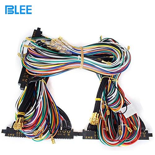 blee 1 unit arcade jamma 28pinx2 56 pin interface cabinet wire wiring  harness loom multicade arcade