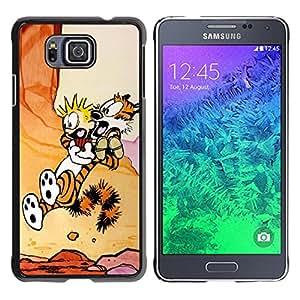 // PHONE CASE GIFT // Duro Estuche protector PC Cáscara Plástico Carcasa Funda Hard Protective Case for Samsung ALPHA G850 / Calvin Hobb /