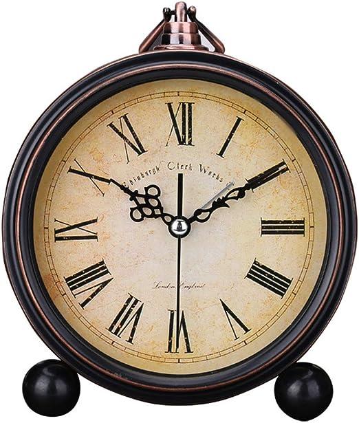 Surenhap - Reloj Despertador analógico Vintage silencioso Antiguo ...