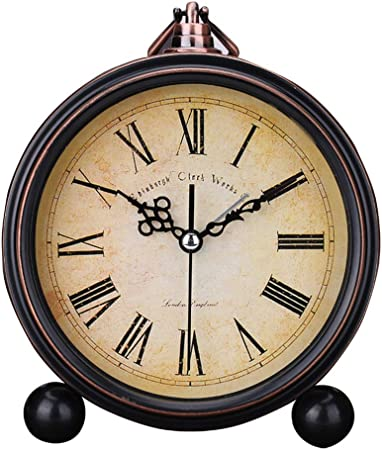 Reloj Vintage Despertador Analógico Vintage Silencioso Despertador ...