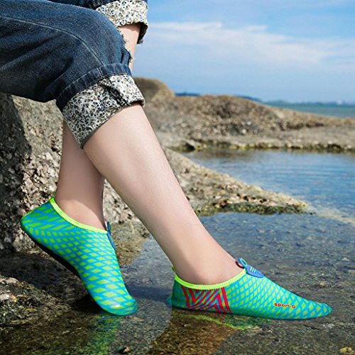 Water Sport Shoes, Inkach Unisex Quick-dry Water Shoes Barefoot Skin Aqua Socks for Women Men Swim Beach Pool Surf Yoga Shoes Blue