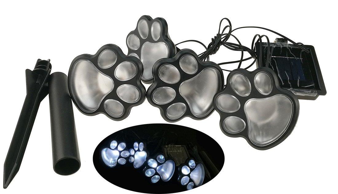 Outdoor Waterproof Solar LED Animal Footprint courtyard Grass Lamp For Garden, Balcony, Lawn Illumination