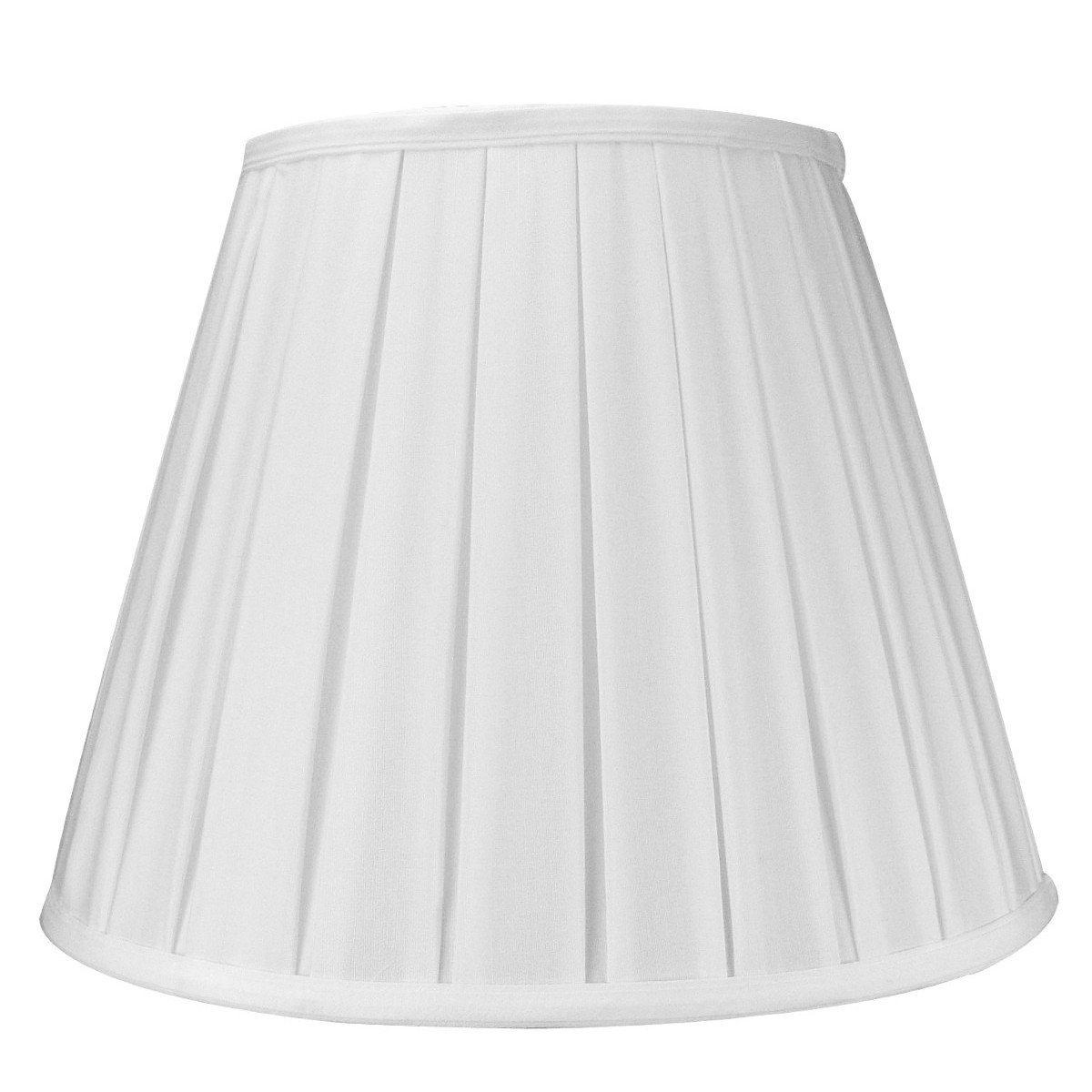 8x14x11 Empire Box Pleat Shade White with Brass Spider Fitter by Home Concept - Perfect for Table Lamps and Some Desk Lamps -Medium, White