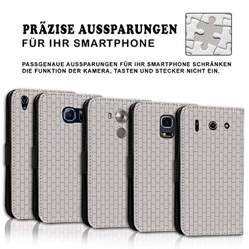 Wallet Book Style Flip Handy Tasche Case Schutz Hülle Schale Motiv Etui für Apple iPhone 4 / 4S - Design Flip MV265