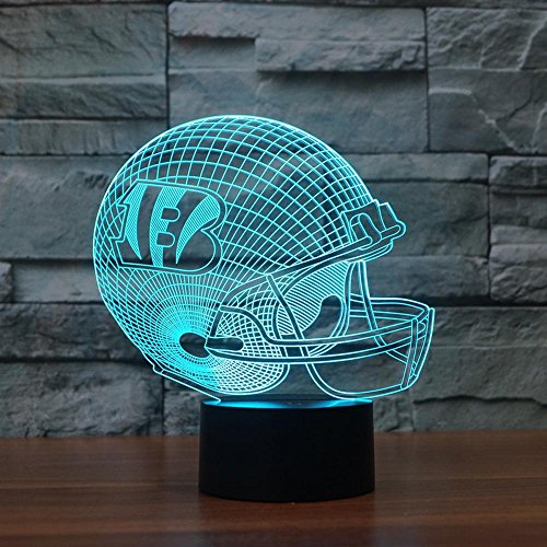 Night Lights for Children,Rugby Cap Cincinnati Bengals 3D Light Colorful Touch-Controlled LED Light