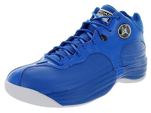 official photos 92563 ce261 Jordan Nike Men s Jumpman Team 1 Sport Blue White Black Basketball Shoe 8  Men