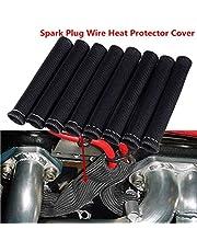 YUK Black 1200° Spark Plug Wire Boots Heat Shield Protector Sleeve SBC BBC 350 454(8 PCS)