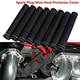YUK Black 1200° Spark Plug Wire Boots Heat Shield Protector Sleeve SBC BBC 350 454(8 PCS)