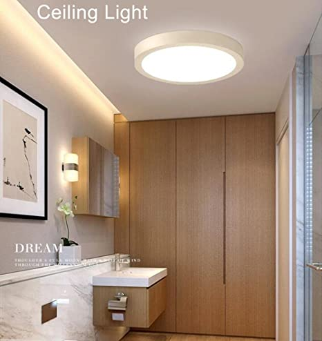 W-LITE 18W LED Flush Ceiling Lights for Bathroom Kitchen Hallway ...