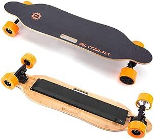 """BLITZART Tornado 38"""" Electric Skateboard Electronic Longboard 17mph 350W Hub-Motor 3.5"""" 90mm"""