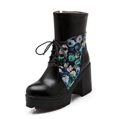 Women's Zipper High Heels PU Assorted Color Low Top Boots