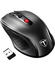 VicTsing 2.4G Wireless Mouse, [Update to Latest Version] 6 Buttons, Nano Receiver, 15 Month Battery Life, 2400 DPI