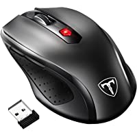 VicTsing 2.4G Wireless Mouse, [Update to Latest Version] 6 Buttons, Nano Receiver, 15 Month Battery Life, 2400 DPI 5 Adjustment Levels Replacement for Laptop Computer (Black)