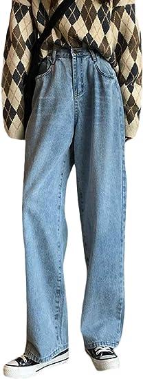[YUNHEN]ジーンズ レディース デニムパンツ ゆったり ワイドパンツ デニム ストレート ジーパン シンプル ファッション Gパン オシャレ 秋 冬 ズボン