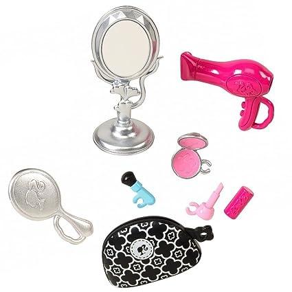 Barbie - Objetos de Decoración Set - Baño - Maquillaje Kit de Belleza