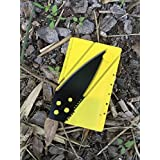 Credit Card Knife, Folding Pocket Knife. Tactical Survival Foldable Knife, Letter, Envelope, Package Knife, Safety Knife, CardSharp Card Sharp, Sharp Card (Yellow & Black)