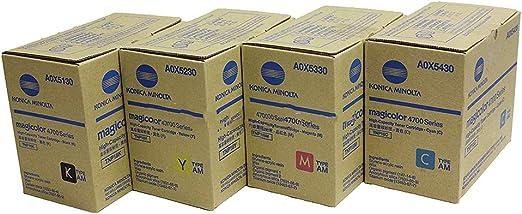 2x Patrone BLACK für Konica Minolta Magicolor 4750-EN 4750-DN