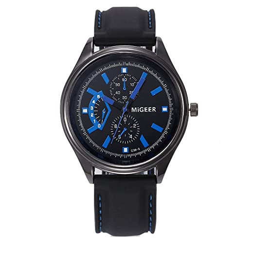 Kinlene Relojes de Hombre -Reloj de moda Hombres Acero Inoxidable Negocios Casual hombres Reloje (