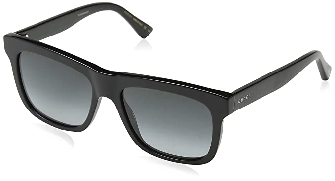 99de1a9302898 Gucci GG0158S 001 Black GG0158S Square Sunglasses Lens Category 3 Size 54mm