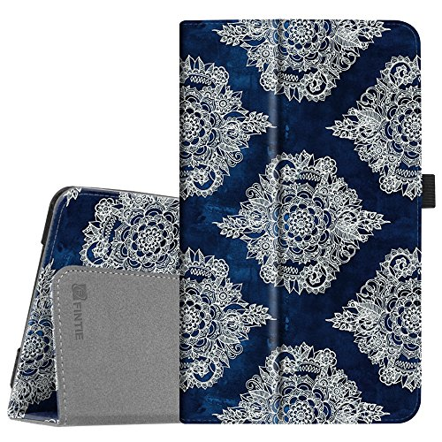 Fintie Folio Case for Samsung Galaxy Tab A 8.0 2017 Model T380/T385, Premium PU Leather Folio Stand Cover with Auto Sleep/Wake for Galaxy Tab A 8.0 Inch SM-T380/T385 2017 Release, Indigo Dreams