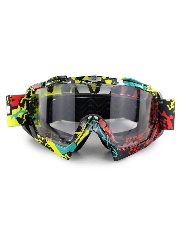 屋外スポーツゴーグルゴーグルフロントガラス防塵ミラー新しいオフロードオートバイライダー機器男性と女性の緑のスキーゴーグル秋と冬のゴーグルに乗って Two