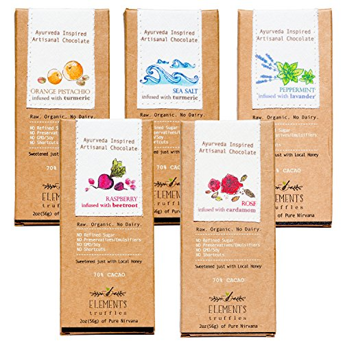 Elements Truffles - Dairy Free Chocolate Bar - Gluten Free, Non-GMO, Raw & Fully Organic Chocolate Bar - Ayurveda Inspired Healthy Chocolate Bar