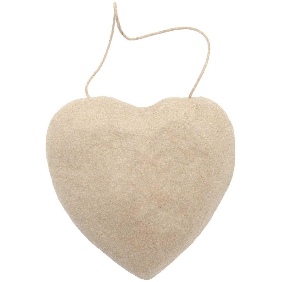 Darice 2833-44 Paper Mache Puffy Heart with String, 5.5-Inch DARCB
