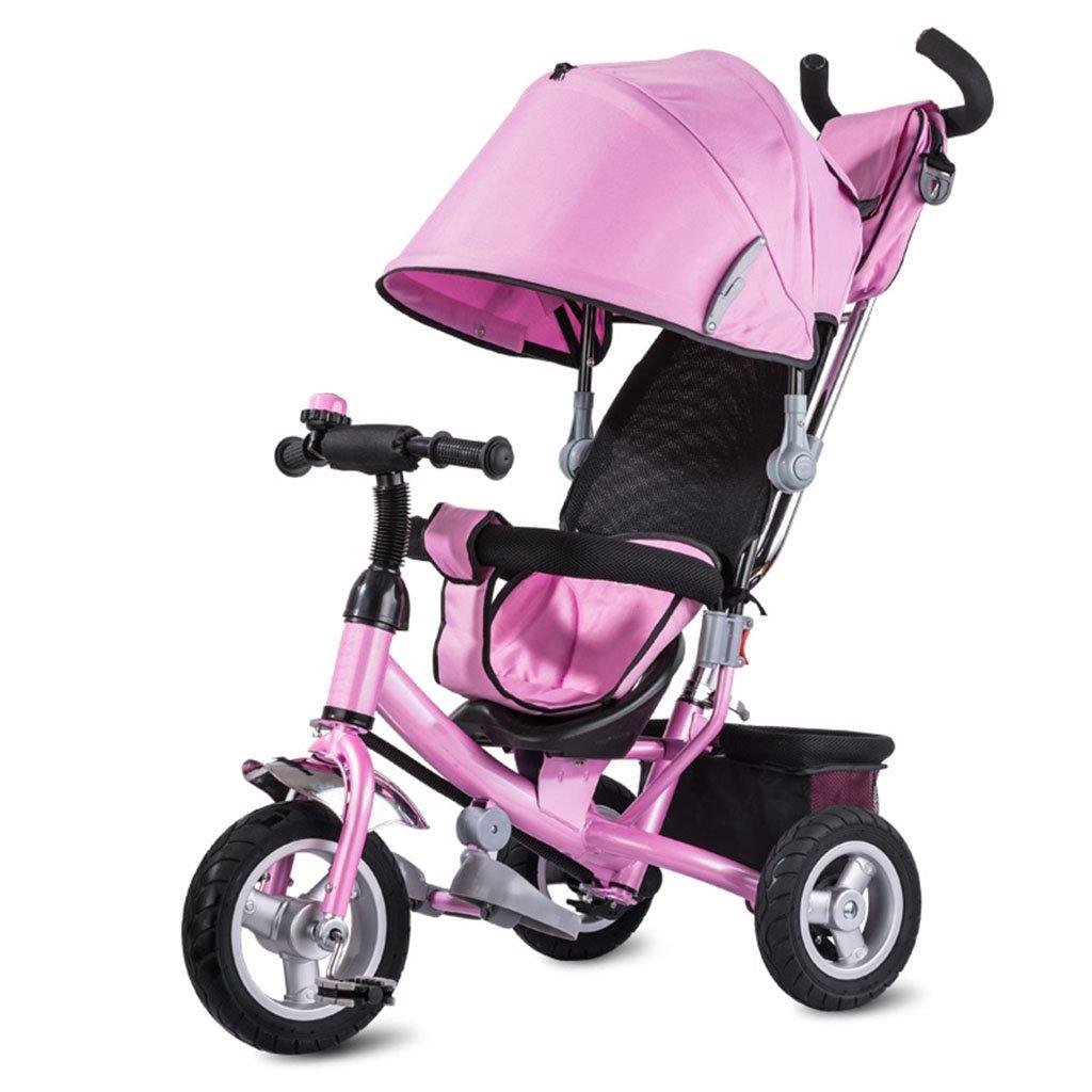 CGN子供の自転車、子供の三輪車の自転車の赤ちゃんのトロリーチタンの空ホイール赤ちゃんのキャリッジ二重ブレーキ soft B07CMXRXC3ピンク ぴんく