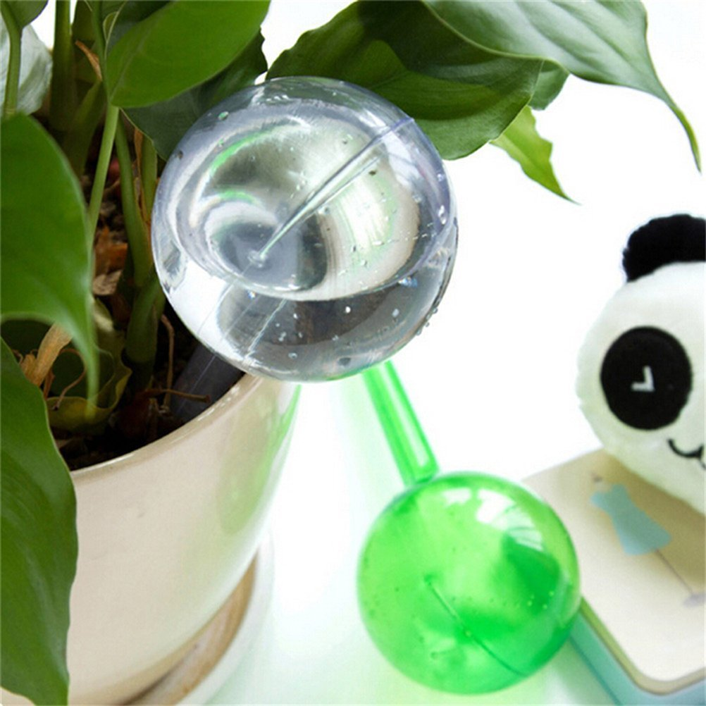 CoscosX 4 Pcs Automatic Watering Globes Ball Device Spikes Aqua Stakes Vacation Houseplant Plant Pot Bulbs Garden Waterer Flower Water Drip Irrigationdevice Self Watering System