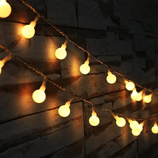 5 Meters Fairy Lights Battery Powered 50leds Globe String Light Bedroom  Party Ambient Decoration Lighting For