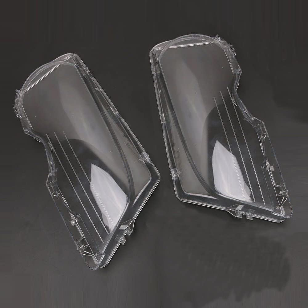 KKmoon 1 Pair Headlight Clear Cover Side Headlamp Lense Lens Front Headlamp Lens Replacemnt for BMW E46 2DR M3 325Ci 01-06 Base Coupe 2 Door 1999-03
