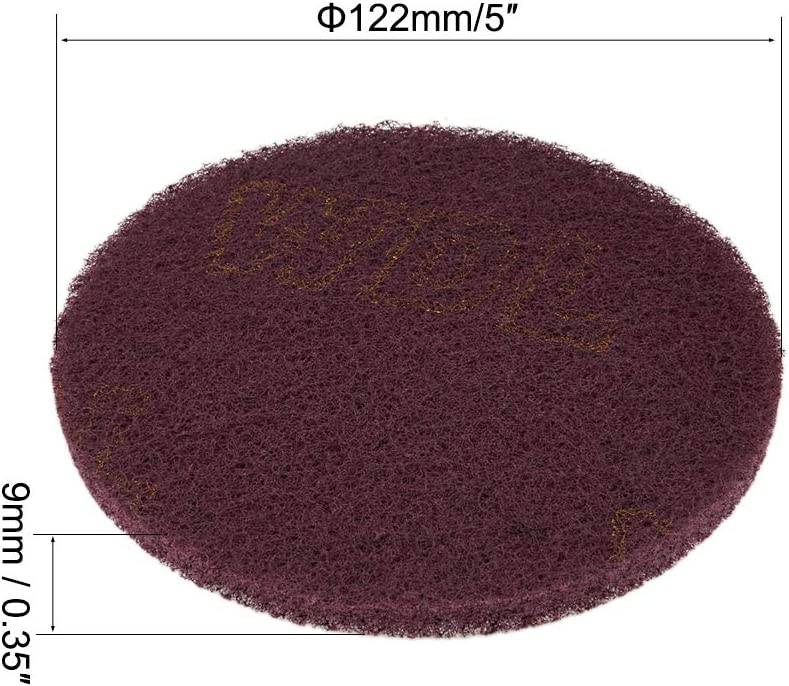 400 K/örnung Bohrmaschine Power B/ürste Fliesenschrubber Reinigung Scheuerschw/ämme Scheuerschw/ämme Polierpads 12,7 cm 320 Sourcing Map Scrub Pad