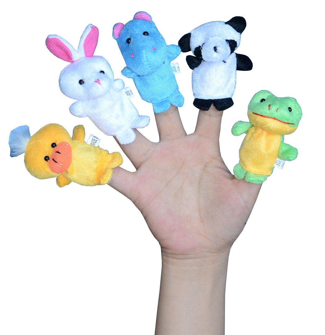 Finger Puppets for Children, Velvet Cute Animal And Family Style, Shows, Playtime, Schools Dolls Props Toys - 16 Different Set by leilaliya (Image #3)