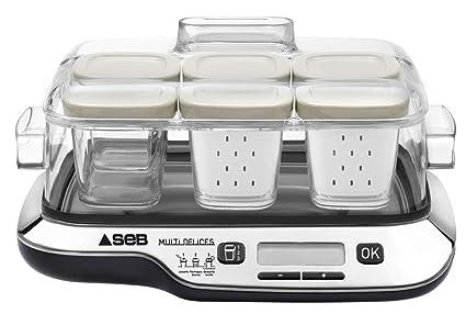 Seb Yg654827 Yaourtieres Multi Delices Compact Noir 6 Pots Amazon