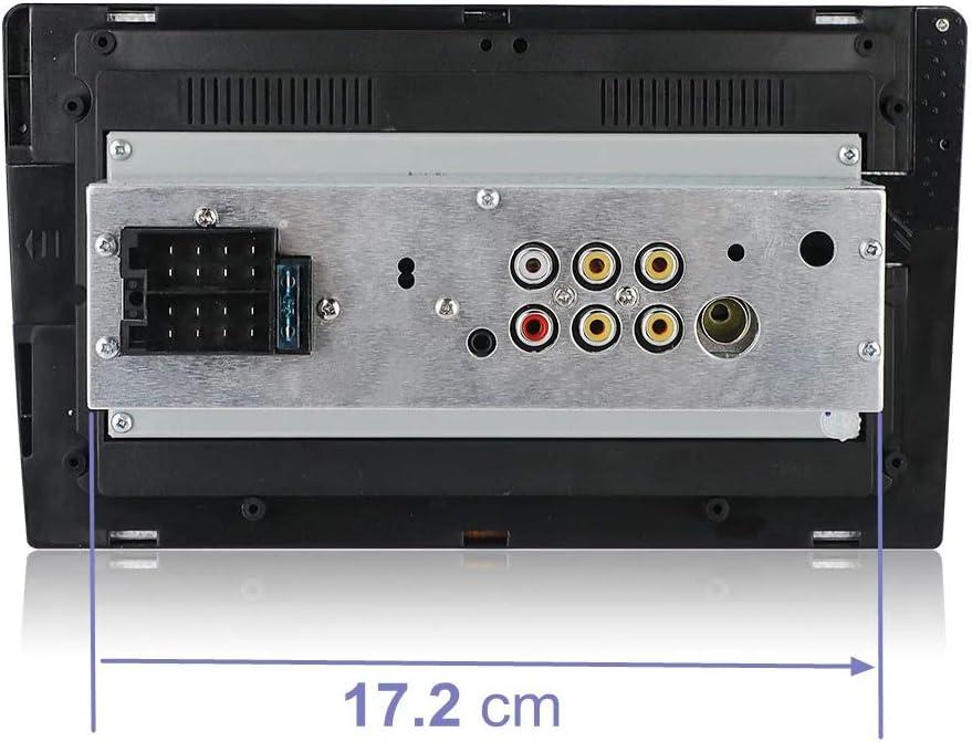 GPS Aux Input USB Port AM FM Car Radio Automodz Apple CarPlay Android Auto Single Din Car Stereo Remote 9 Inch Display with Bluetooth