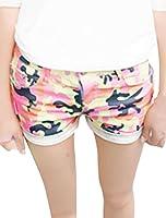 Women Button Closure Zipper Fly Five Pockets Style Mini Shorts