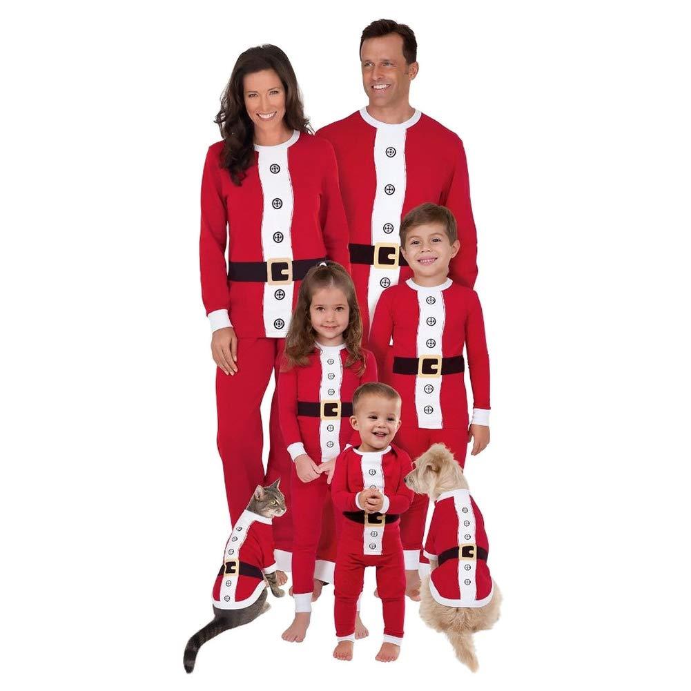Poonkuos Famille Noë l Pè re Noë l Pyjamas - Adulte Femmes Homme Enfants Garç ons Filles PJs Vê tements de Nuit Famille Matching Costume de Pantalon