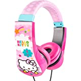 Hello Kitty Kid Safe Over the Ear Headphone with Volume Limiter, Styles May Vary (30309)