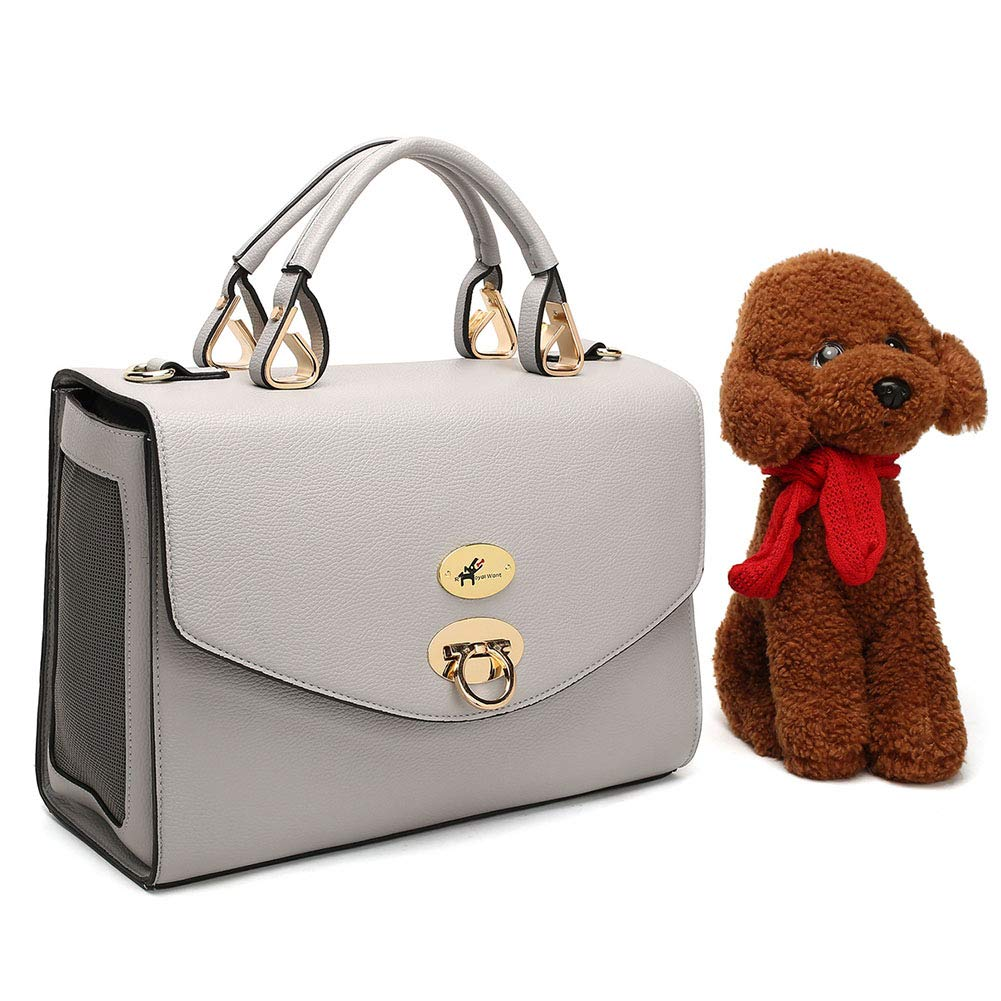WLDOCA Pet Carrier,Dog Puppy Poodle Chihuahua Dachshund Leather Carrier Bag, Lovely Comfortably Handbag for Cat, Rabbit and Other Small Animals