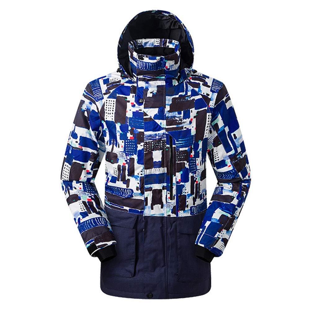 Blau Medium GonFan Winter Outdoor-Männer Unten Skijacke Bequeme Herren Softshell-Jacke Mit Windjacke Atmungsaktiv Leichte Jacke Winter-wasserdichte Ski-Jacke Warm (Farbe   Blau, Größe   XL)