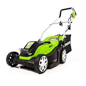 GreenWorks 14-Inch 9 Amp Corded Lawn Mower with Extra Blade MO09B01