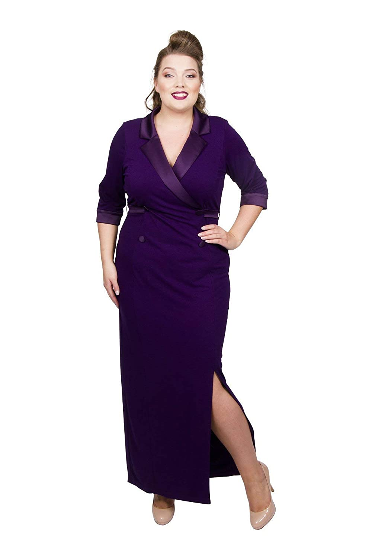 9ec12ebc0f5 Scarlett   Jo Tuxedo Maxi Dress Sizes 10-32  Gifi Fields  Amazon.co.uk   Clothing
