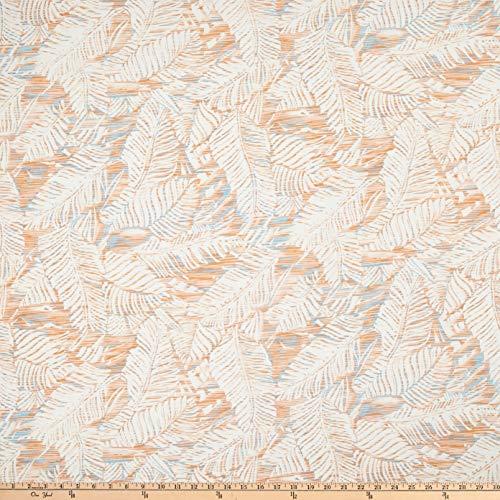 Fabric Merchants Linen Blend Fern Valley Fabric, Papaya/Slate/Off-White, Fabric By The Yard