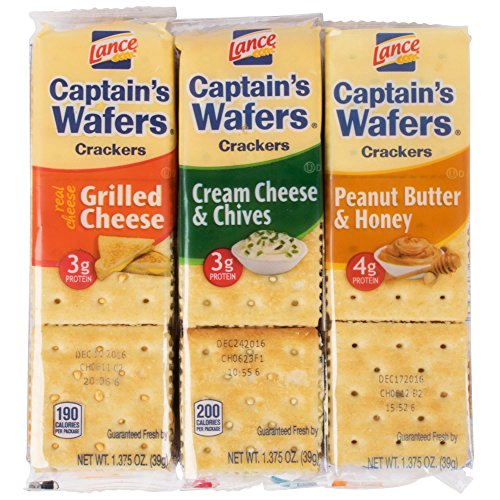 TableTop King Captain's Wafers Sandwich Crackers 8 Count Variety Pack - 14/Case