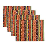 country kitchen table placemats KEPSWET Boho Rural Table Placemat Set 4pcs Modern Geometry Reversible Bohemia Set of 4 Place Mat Table Mats Doilies Dining Table Kitchen Place Mat Home (11.8x15.7Inch, A)