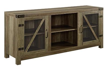 Amazon Com Offex 58 Rustic Oak Modern Home Decorative Rustic