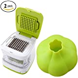 Coralpearl Kitchen Aid Stainless Steel Ginger Garlic Press Cube And Cutter Mincer Chopper Crusher Slicer Peeler Grater Twister Dicer Green Tool Set