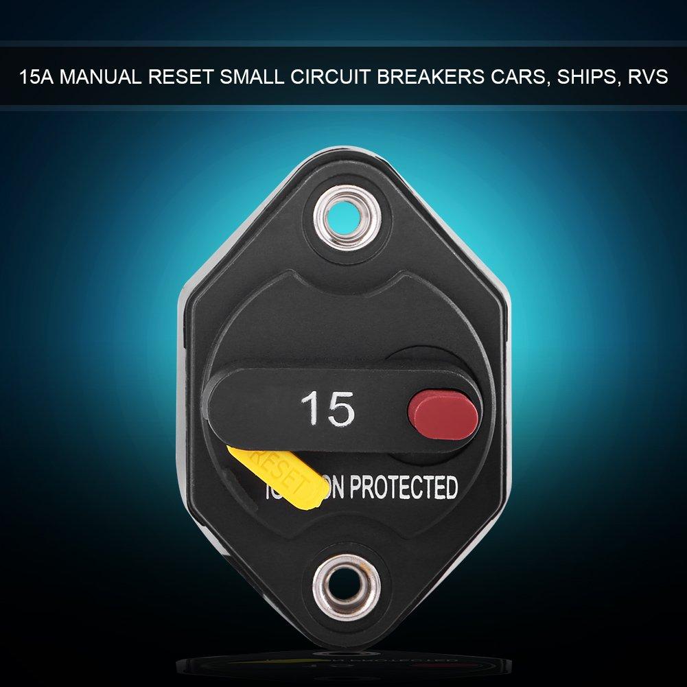 Disgiuntore del fusibile Reset di 15/Amp Interruttore del Audio Auto per la protezione del sistema 32/V DC